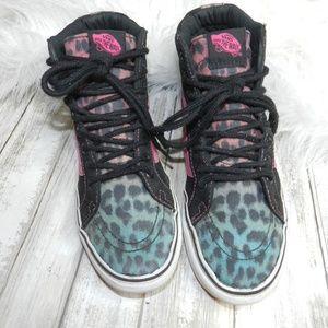 Vans Hi top old skool leopard print sneakers